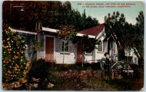 1910s Oakland CA Postcard JOAQUIN MILLER, Poet of the Sierras, at His Home