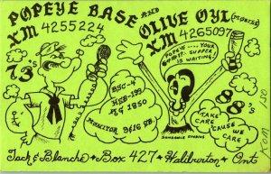 QSL Radio Card From Haliburton Ontario Canada