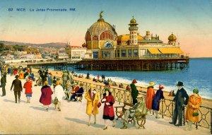 France - Nice. La Jetee Promenade. The Casino, Pier