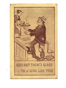 F R Morgan, Gee But There's Class To A Girl Like You, Vintage Cartoon Used 1911