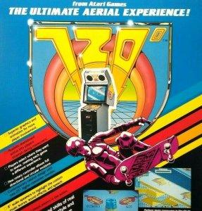 Atari 720 Arcade FLYER Original Retro Video Game 1986 Skateboard Art Print Sheet