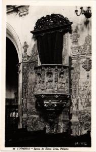 CPA Coimbra- Igreja de Santa Cruz, Pulpito PORTUGAL (760770)