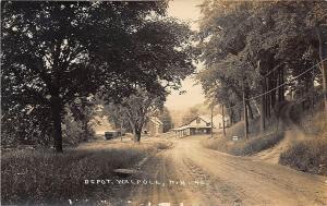 Walpole NH Railroad Station Train Depot Eastern Illustrating RPPC Postcard