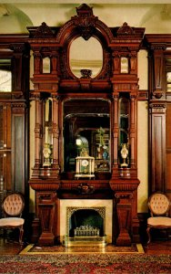 Texas Galveston Bishop's Palace Santo Domingo Mahogany Carved Mantel