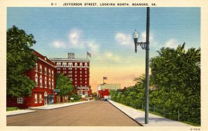 VA - Roanoke. Jefferson Street looking North