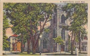 Exterior, St. Anne's Church, Lowell, Massachusetts,  PU-1949