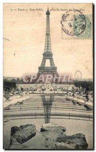 Old Postcard Paris Eiffel Tower Getting the Trocadero Basin