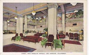 Lobby, New Rosslyn Hotels, Los Angeles, California, 30-40s