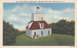 New York Stamford Mount Ut-Say-An-Tha Observatory Curteich sk6282