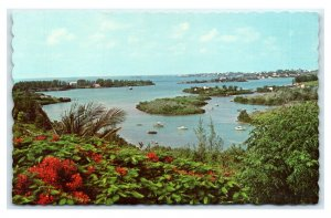 Postcard Ely's Harbour, Somerset from Wreck Hill, Bermuda  E22