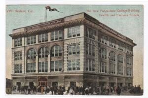 Polytechnic College Oakland California 1908 postcard
