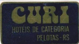 BRASIL PELOTAS HOTEL DE CATEGORIA VINTAGE LUGGAGE LABEL