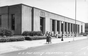 Kalamazoo Michigan~United State Post Office~Mail Dropbox RPPC 1940s