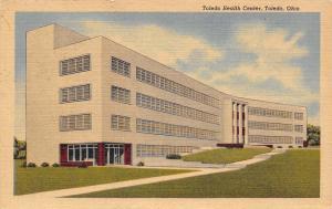 Toledo Ohio~Toledo Health Center~Art Deco Building~Erie & Orange~1954 Postcard