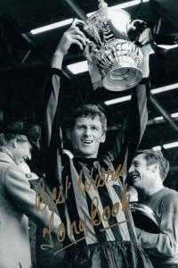 Tony Book of Bath Plymouth Argyll Football Club Lifts Cup 10x8 Hand Signed Photo
