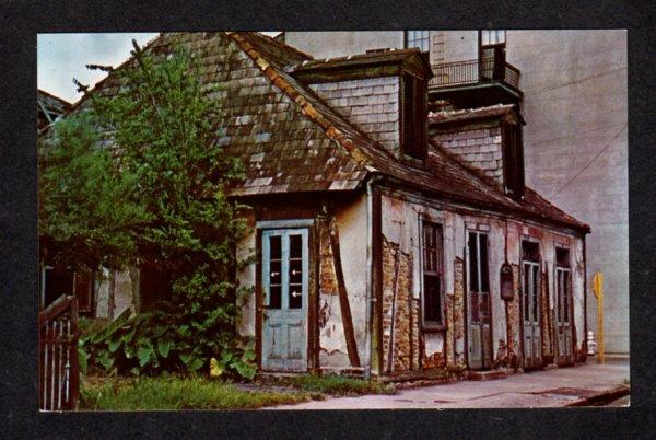 LA Jean Lafitte Blacksmith shop New Orleans Louisiana Postcard Carte Postale