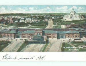 Pre-1907 NY & NH TRAIN DEPOT STATION Providence Rhode Island RI Q2262