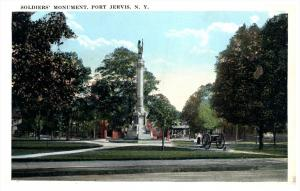 10425  NY Port  Jervis   Soldier's Monument