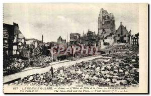 Old Postcard The Great War Arras The Hotel de Ville and Place Army