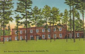 Virginia Martinsville Henry County Memorial Hospital