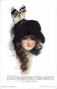 Harrison Fisher Postcard Post Card Good Little Indian 1918