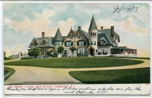 Henry Clews The Rocks Residence Newport Rhode Island 1907 postcard