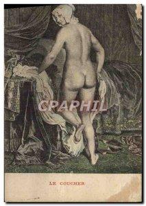 Old Postcard Nude Erotic Bedtime