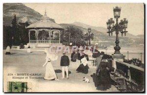 Postcard Old Kiosqueet terraces Monte Carlo