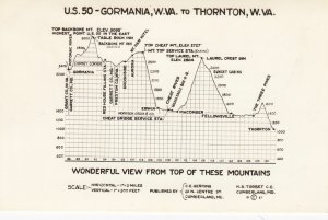 RP: Elevation Map , U.S. 50 - Gormania , W.Va. to Thornton , W. Va. , 1930-40s