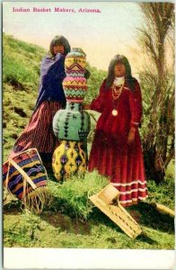 1910s Arizona / Native Americana Postcard Indian Basket Makers Women / Unused