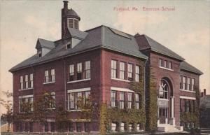 Maine Portland The Emerson School 1908