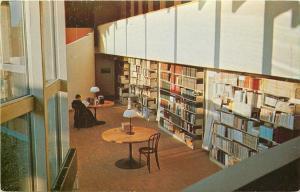 Pine City NY~Mount Savior Benedictine Monastery Library Interior~Books~1950s