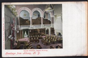 New York ALBANY Greetings from Senate Chamber State Capitol Building - Und/B