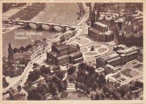 Hotel Bellevue Aerial View Dresden Germany