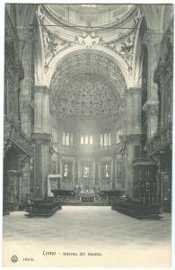 Italy, Como, Interno del duomo, early 1900s unused Postcard