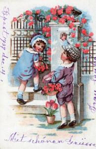 Happy New Year - Hungarian Postcard 01.47