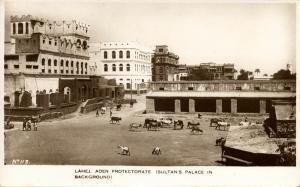 yemen, LAHEJ, Aden Protectorate, Sultan's Palace (1930s) RPPC Postcard