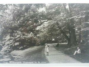 Vintage Dutch RP Postcard Zeist Walkartpark Middenpad Bij De Vijver
