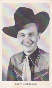Vintage Arcade Card Cowboy Harpo Richardson