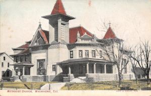 Waxahachie Texas~Methodist Church~Houses Each Side~1908 Postcard