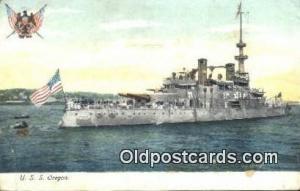 USS Oregon Military Battleship Postcard Post Card Old Vintage Antique Militar...