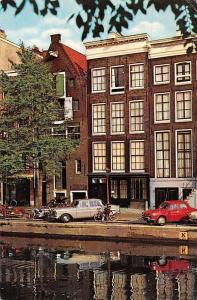 Netherlands Amsterdam, Anne Frank-Huis House Voitures Auto Cars Bicycles