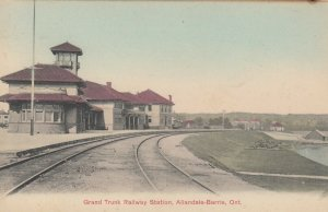 ALLANDALE-BARRIE , Ontario , 1900-10s ; Grand Trunk Railway Station
