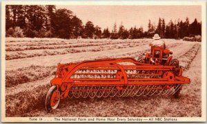 1950s ALLIS-CHALMERS Advertising Postcard New Power-Driven Rake and Tedder