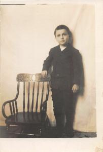 F36/ Jackson Ohio RPPC Postcard c1915 Lesta & Ernest Harper Chair 13
