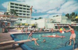 MIAMI BEACH , Florida , 1950-60s ; Sea Gull Hotel , Pool