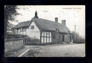 TQ3008 - Cheshire - The Thatched Cottage Post Office, at Grappenhall - postcard