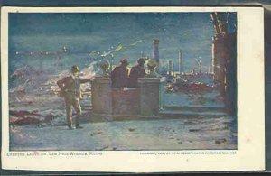 pc9235 postcard Van Ness Avenue Ruins SF CA 1906 Hearst name on back