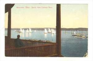 Yachts From Colonial Arms,Balcony,Gloucester,M A,1908