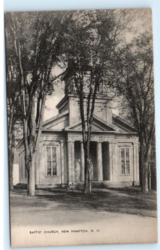 *Baptist Church Chapel New Hampton New Hampshire NH Vintage Postcard B39